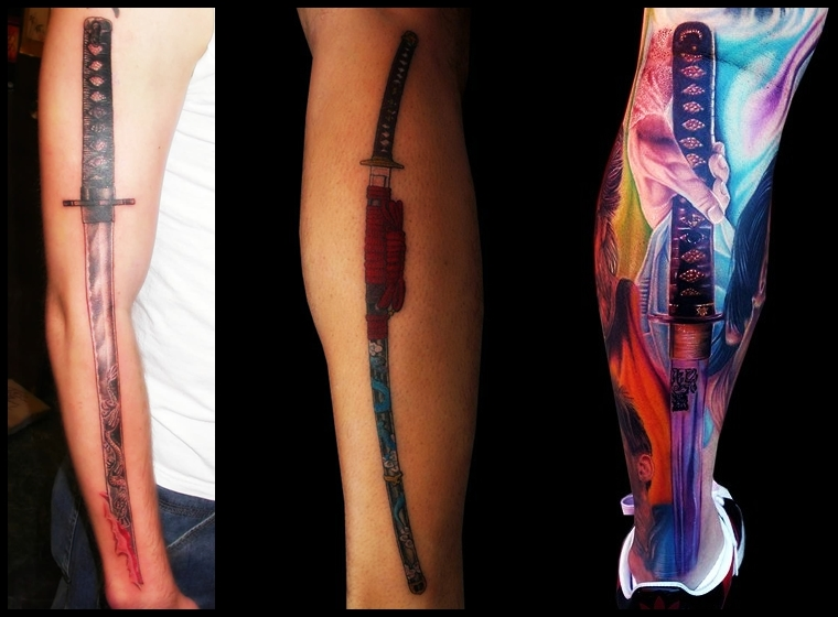7 Katana Sword Tattoos