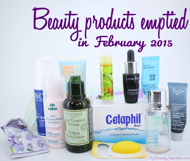 Beauty products emptied in February 2015