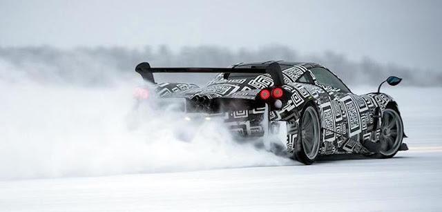 世界限定20台の「パガーニ・ウアイラBC」が氷点下の環境で雪上を疾走!