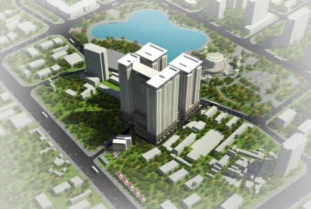 Mặt bằng 4 tòa tháp V1, V2, V3, V4 dự án Home City Trung Kính