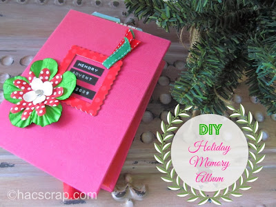 DIY Holiday Memory Album - Collect your precious holiday memories all in one place to enjoy year after year with family and firends.