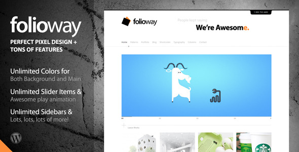 Folioway - Premium Portfolio Wordpress Theme Free Download by ThemeForest.