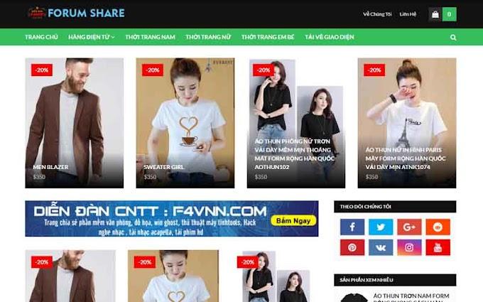 Chia Sẻ Giao Diện Blopspot Bán Hàng Chuẩn Seo 2019 - EasyCart Blogger Template