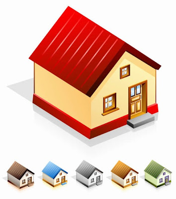 vectores de casas