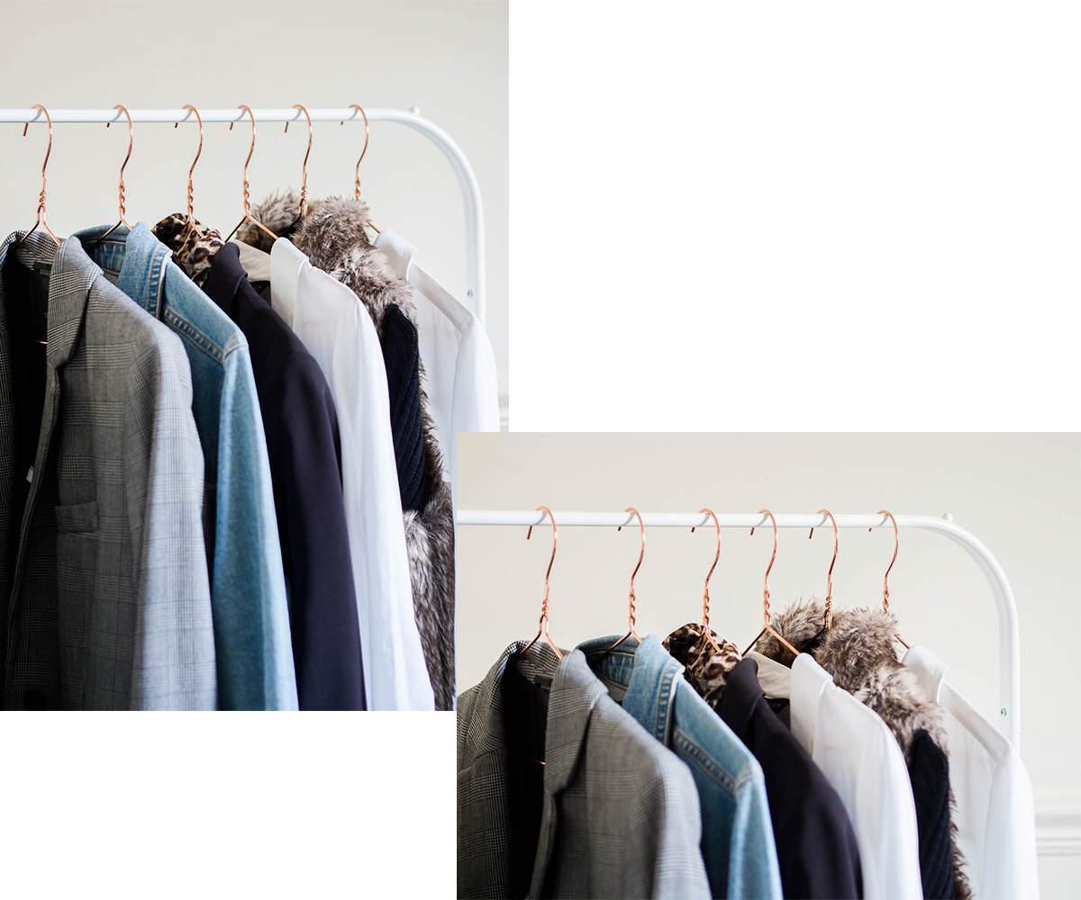clothing-rail-in-bedroom-decor