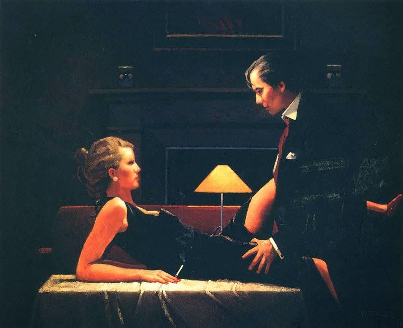 Transbordando de Paixão - Jack Vettriano e suas pinturas cheias de encontros íntimos