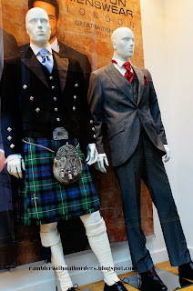 Scottish kilt, Glasgow, Scotland, UK