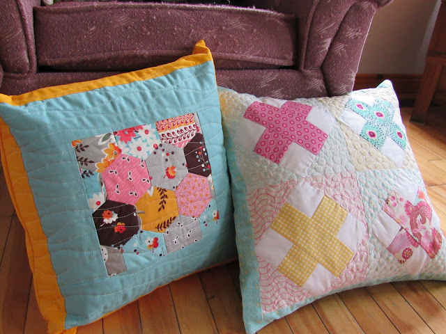 chezzetcook modern quilts: Is there such a thing as too many pillows?