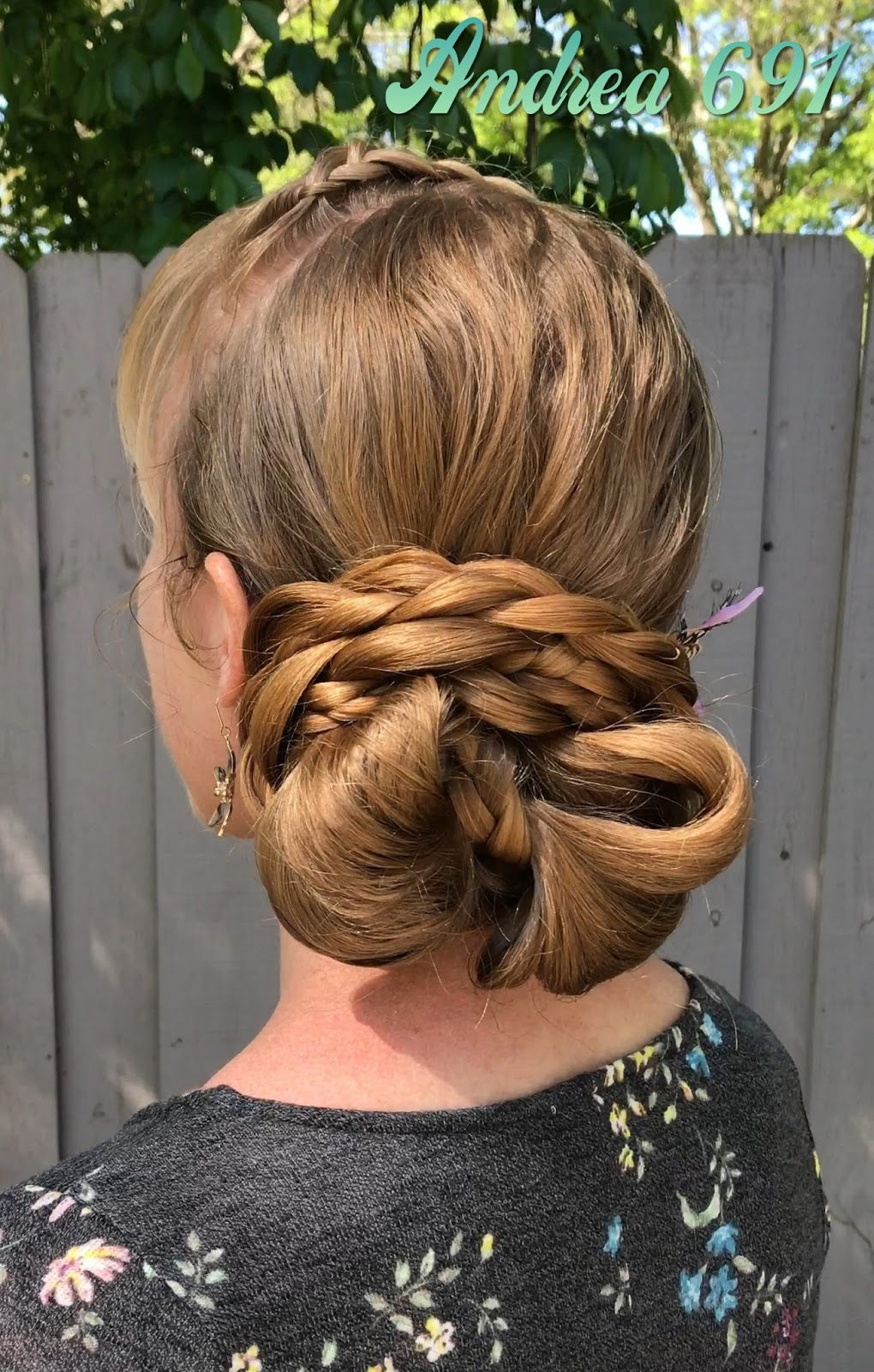 Braids Hairstyles For Super Long Hair Bow Bun