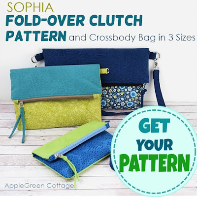 fold-over clutch sewing pattern
