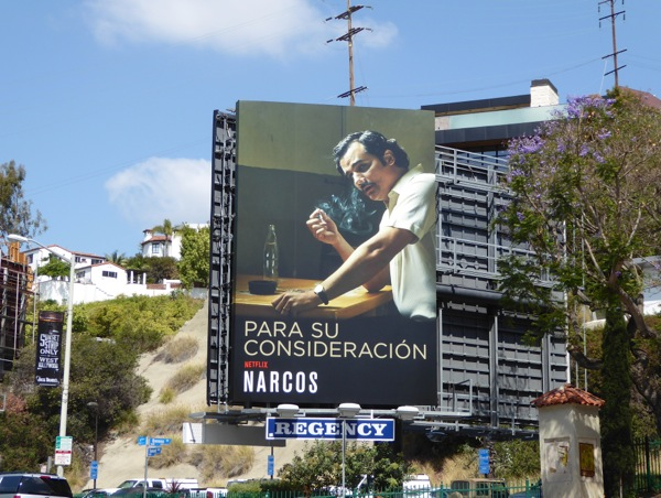 Narcos 2016 Emmy consideration billboard