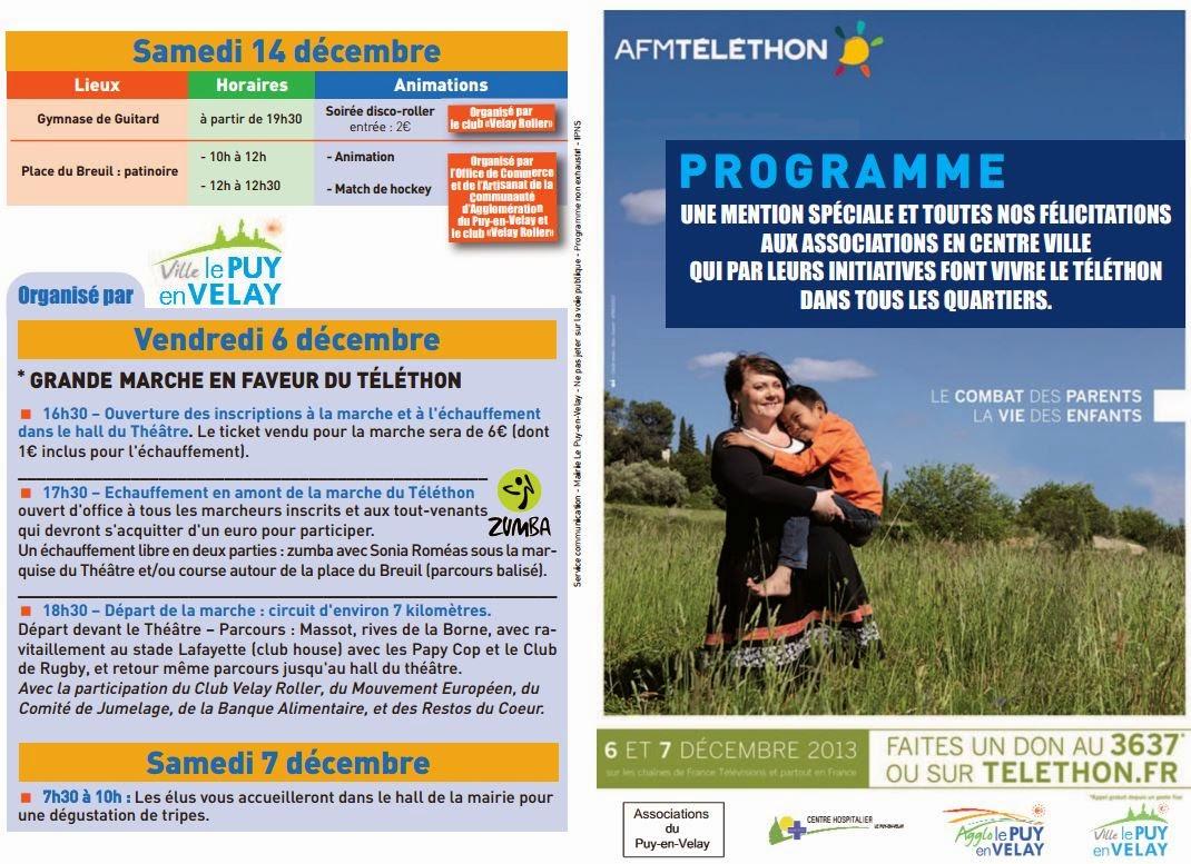 Téléthon 2014: Le Puy en Velay, 43