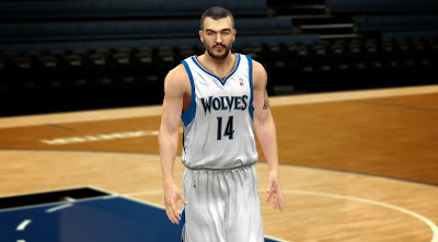 2K NBA 2K14 Nikola Pekovic Face Texture Patch