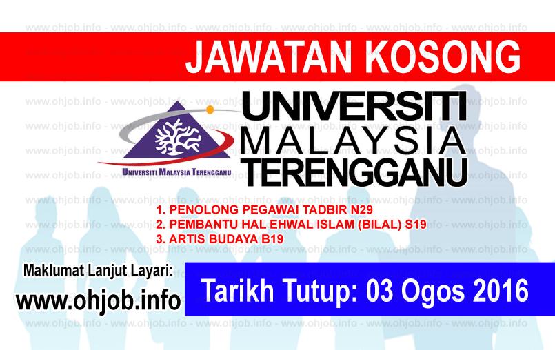 Jawatan Kerja Kosong Universiti Malaysia Terengganu (UMT) logo www.ohjob.info ogos 2016