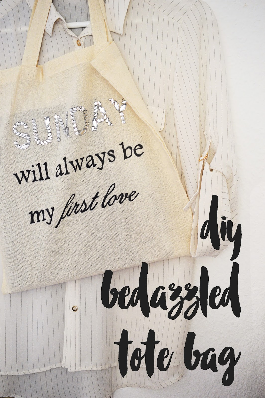 DIY Bedazzled Tote Bag | Motte's Blog