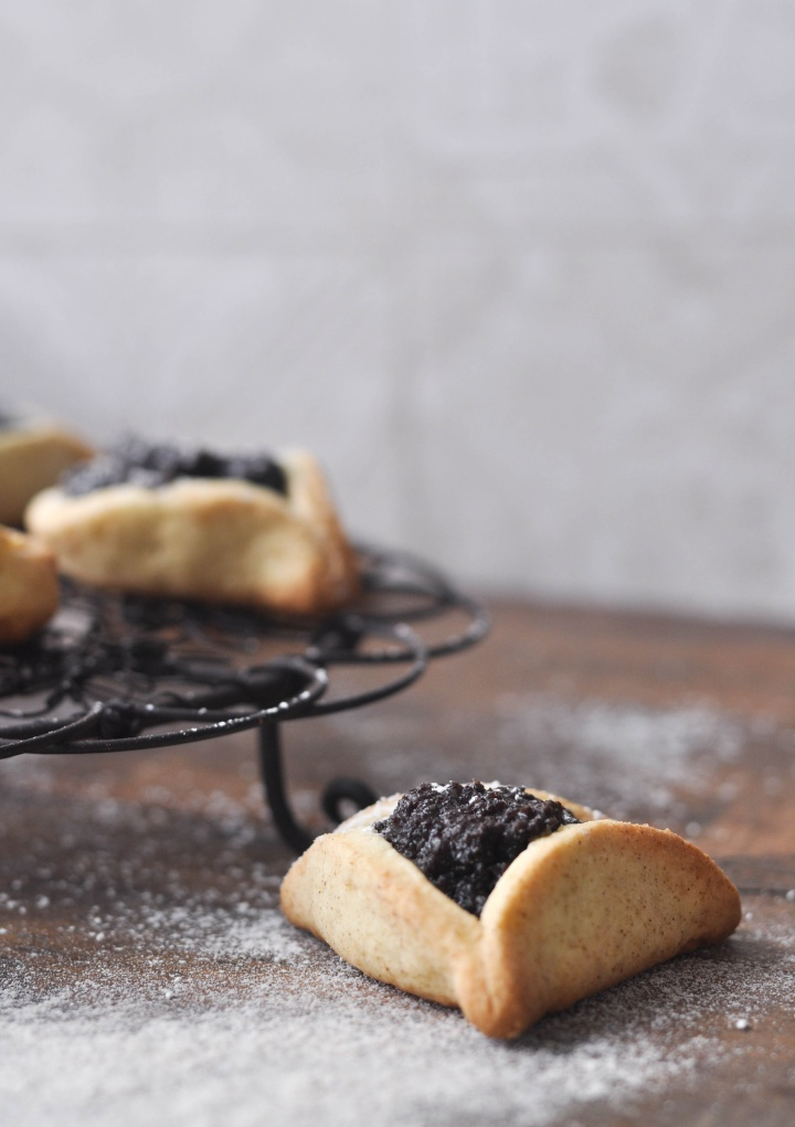 delicpus Hamentashn with Poppy Seed Filling, a gluten free treat for Purim