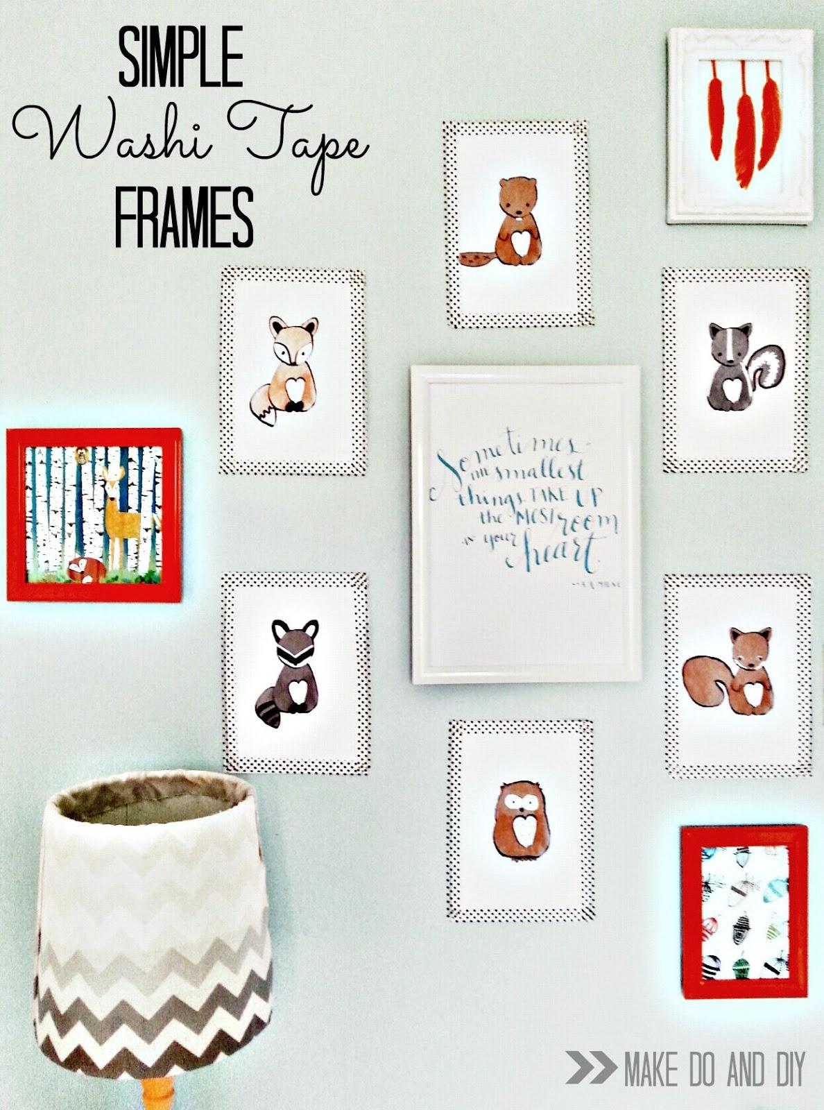 Washi Tape Frames Make Do And Diy