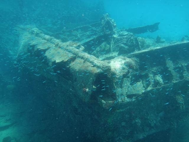 Barco hundido en Isla Perro Chico