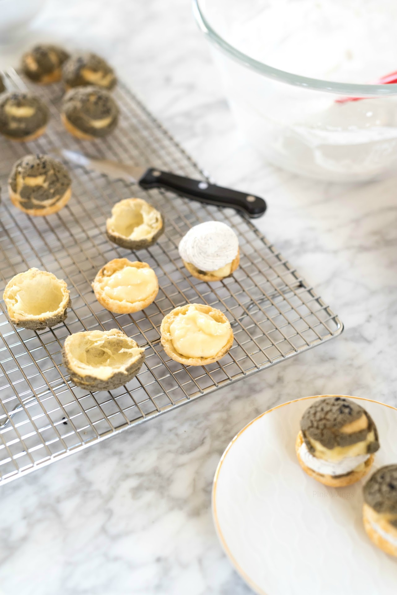 cream puff recipe, profiteroles, how to make cream puffs, fool-proof, easy, pastry cream, asian food blogger, san francisco bay area