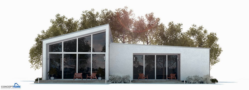affordable home plans affordable modern home plan ch281. Black Bedroom Furniture Sets. Home Design Ideas