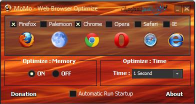 أداة MoMo Web Browser Optimize للمحافظة على رامات حاسوبك وجعلها أكثر سرعة وفاعلية