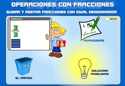 http://primerodecarlos.com/QUINTO_PRIMARIA/UNIDAD_7/actividades/matematicas/sumar_restar_mismo_denominador.swf