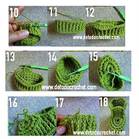 Patucos tejidos con ganchillo paso a paso todo crochet - Como empezar a hacer punto paso a paso ...