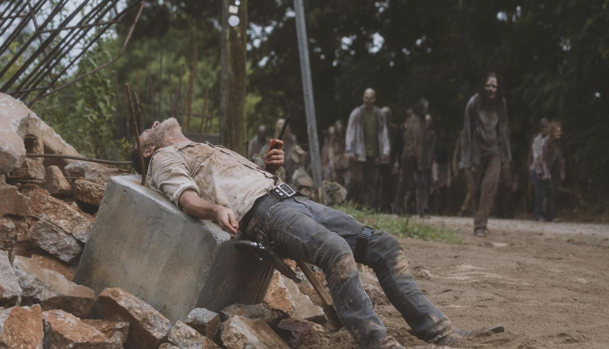 Rick en el episodio 9x05 What Comes After