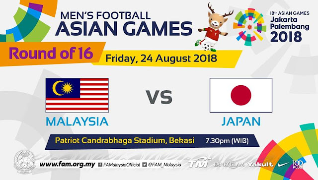 Live Streaming Malaysia vs Jepun Asian Games 24.8.2018