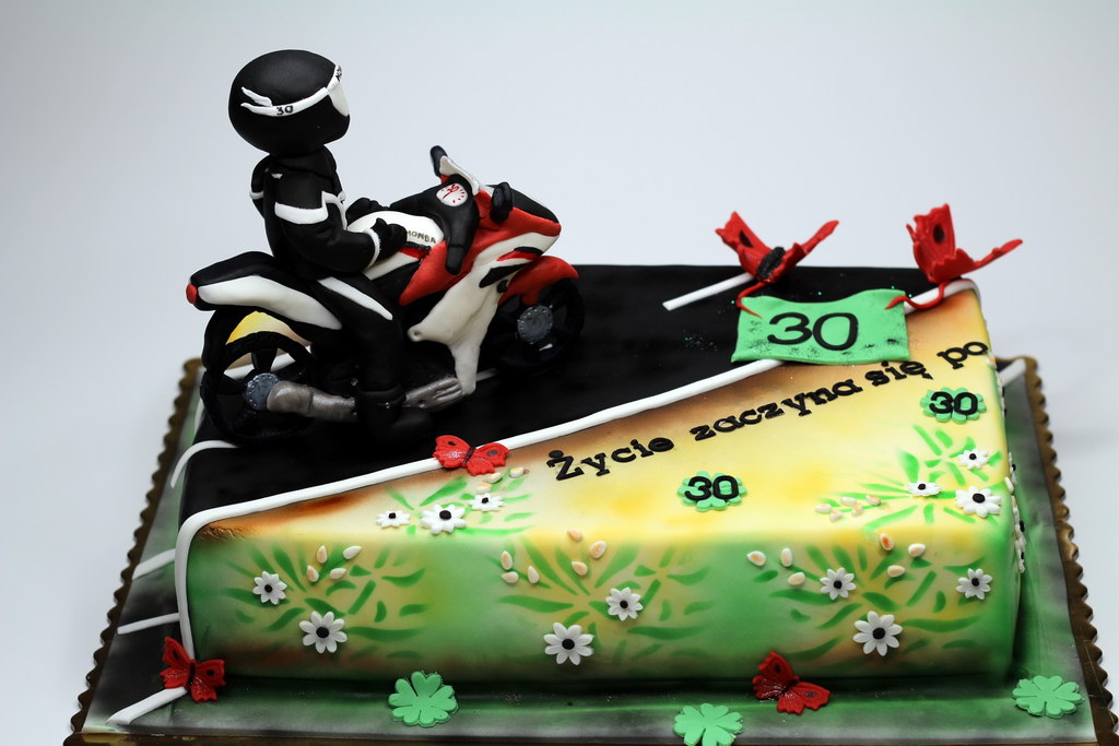 Preferred London Patisserie: Honda Motorbike Birthday Cake London CK89