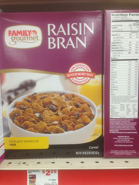 Raisin Bran, Family Gourmet - Family Dollar