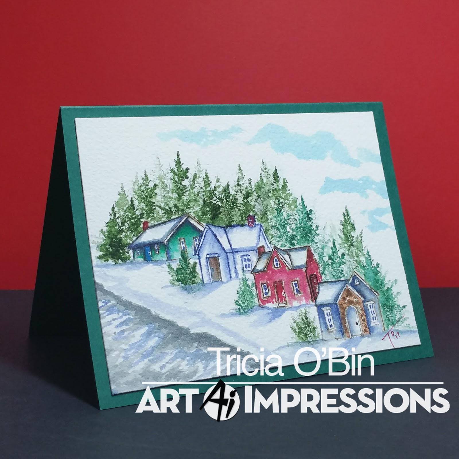Art Impressions Cling Stamp Set WC Fir Trees