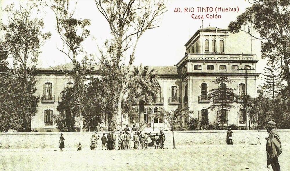 Postales antiguas de andaluc a casa col n rio tinto huelva - Casa colon huelva ...