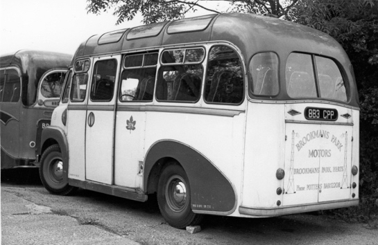 Photograph of Greenleaf's Bedford coach, one of a fleet of three. June 1966. Photograph by Ron Kingdon, digitised by Mike Allen