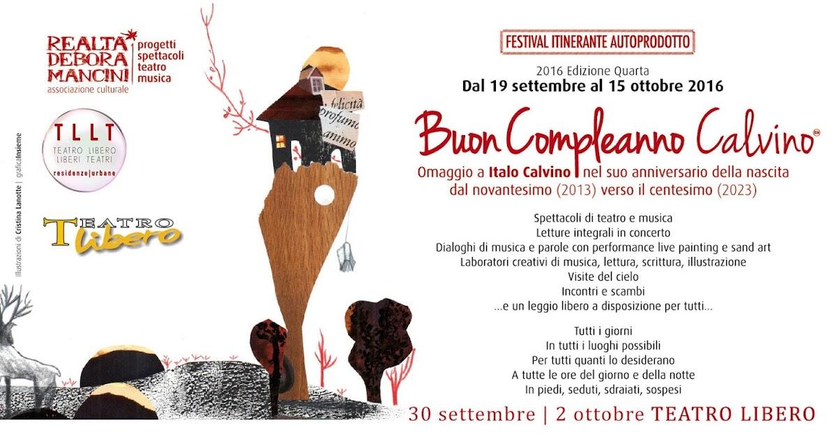 Teatro Libero Milano: si inizia stasera con Buon Compleanno Calvino