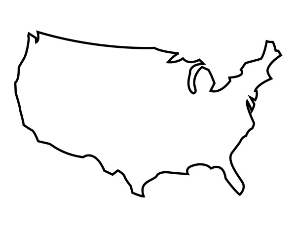 USA Blank Map Printable