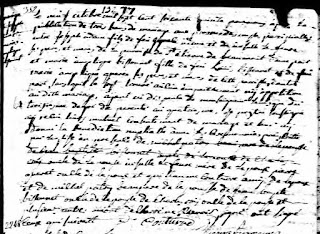 Joseph Adam and Angelique Bissonnette 1775 marriage record