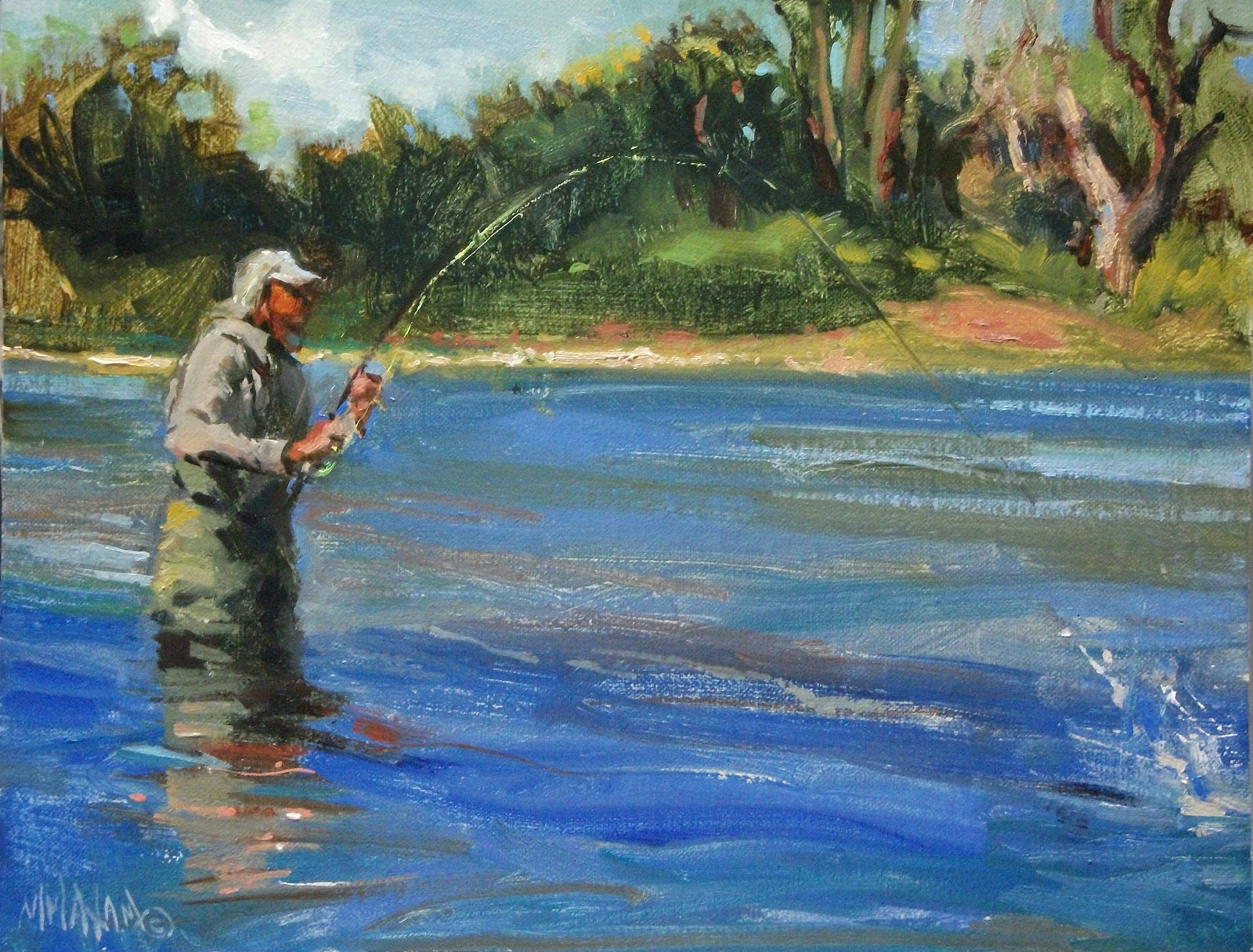 Mary maxam paintings july 2012 for Pictures of big fish