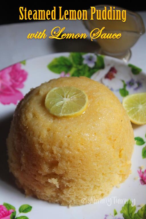 Steamed Lemon Pudding with Lemon Sauce - Yummy Tummy