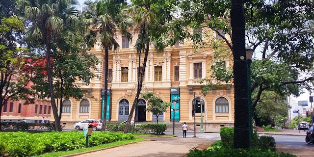 O Memorial Minas Gerais Vale (Belo Horizonte/MG) visto da Praça da Liberdade.