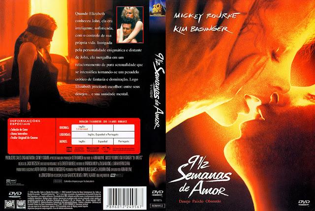 Capa DVD 9 1/2 Semanas de Amor