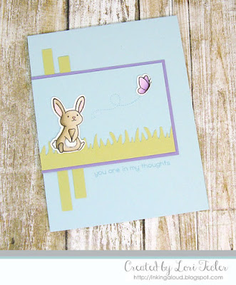 You Are in My Thoughts card-designed by Lori Tecler/Inking Aloud-stamps from Lawn Fawn