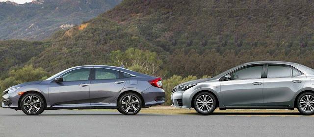 Novo Civic 2017 x Toyota Corolla - comparativo