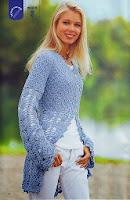 DIY Moda Feminina - Como Fazer Uma Linda Blusa de Crochê Com Gráfico