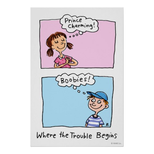 Prince Charming and Boobies - Where the Trouble Begins | Funny Cartoon Poster