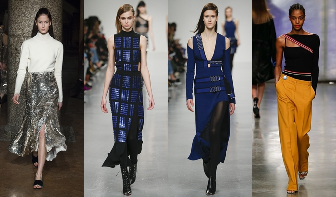 Best of Milan and London FW Fall 2017.Fall 2017 David Koma,Topshop Unique,Emilia Wickstead.