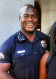 Officer Deon Joseph in uniform as shown in his avatar on Saving San Pedro Facebook group