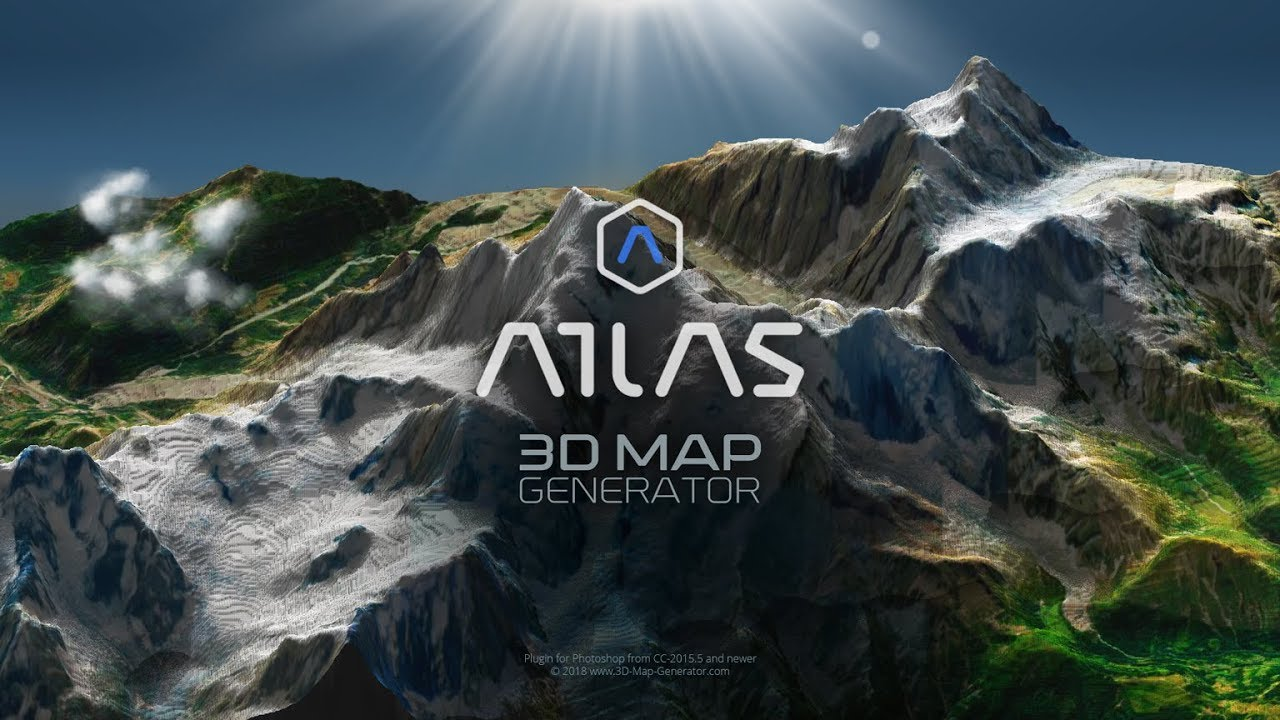 3D Map Generator - ATLAS v1 2 for Photoshop - Plugins
