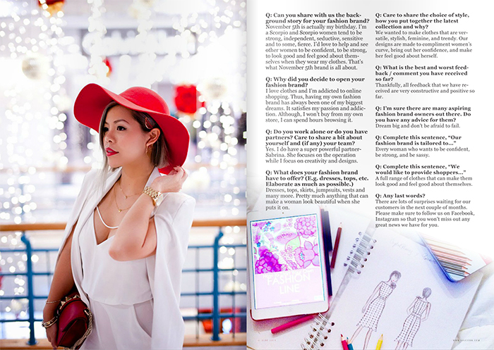 SAUCEink magazine interview with Crystal Phuong- Singapore Fashion Blogger