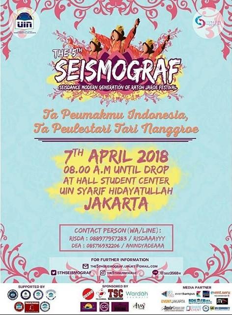 Lomba Tari The 5th SEISMOGRAF 2018 UIN Syarif Hidayatullah Jakarta